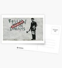 Postales Banksy - sigue tus sueños
