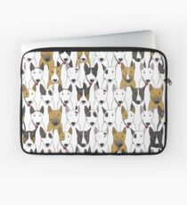 Funny bull terriers pattern Laptop Sleeve