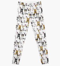 Funny bull terriers pattern Leggings