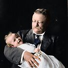 Theodore Roosevelt holding his Grandson, Kermit Roosevelt Jr., 1916 by Mads Madsen