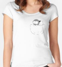Pocket Catana and John Women's Fitted Scoop T-Shirt
