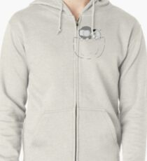 Pocket Catana and John Zipped Hoodie