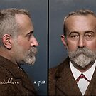 Alphonse Bertillon, in 1913, the man who pioneered the mugshot by Mads Madsen