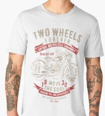 Two Wheels Forever Vintage Motorcycle Community Move The Soul Men's Premium T-Shirt