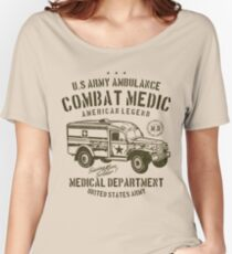 U.S. Army Ambulance Combat Medic American Legend Medical Department Women's Relaxed Fit T-Shirt