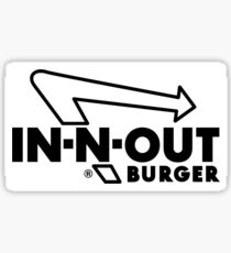 In N Out black and white Sticker