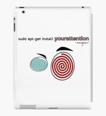 Your attention, please (Colv) iPad Case/Skin