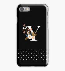 Black Monogram Y iPhone Case/Skin