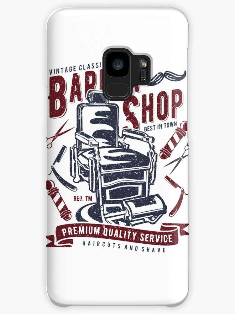 Vintage Classic Barber Shop Cases Skins For Samsung Galaxy By