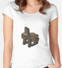 Minecraft Rabbit Design Women's Fitted Scoop T-Shirt