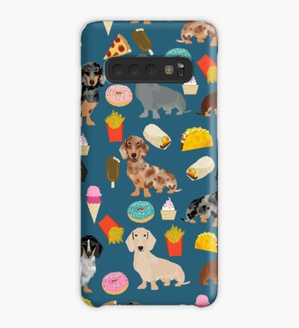 Dachshund doxie dachste junk food peizza donuts french fries dog breed gifts Case/Skin for Samsung Galaxy