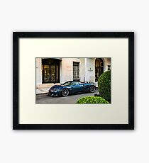 Pagani Huayra Pearl in Paris Framed Print