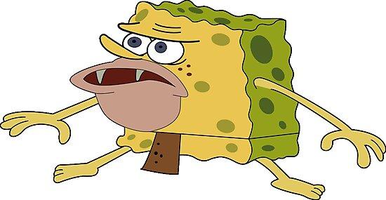 """Caveman Spongebob"" Photographic Print by jasonamato ..."