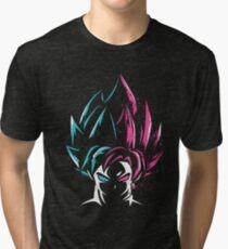 Super Saiyan Blue and Super Saiyan Rose Tri-blend T-Shirt