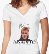 I'M A JAKE PAULER! (ARE YOU?!) Women's Fitted V-Neck T-Shirt