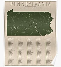 Pennsylvania Parks Poster