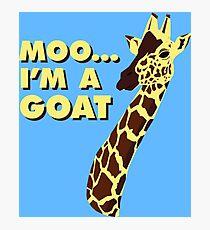 Moo... I'm A Goat Photographic Print