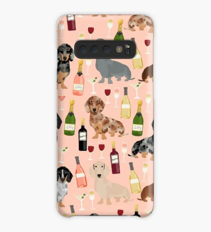 Dachshund doxie dachsie champagne wine cocktails dog breed gifts Case/Skin for Samsung Galaxy