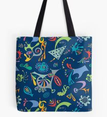 high level navy Tote Bag