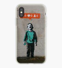 Vinilo o funda para iPhone Banksy - niño llorón