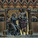 Doubting Thomas and Jesus C14 Polychrome Notre Dame Paris 19840818 0033 NOT FOR SALE by Fred Mitchell