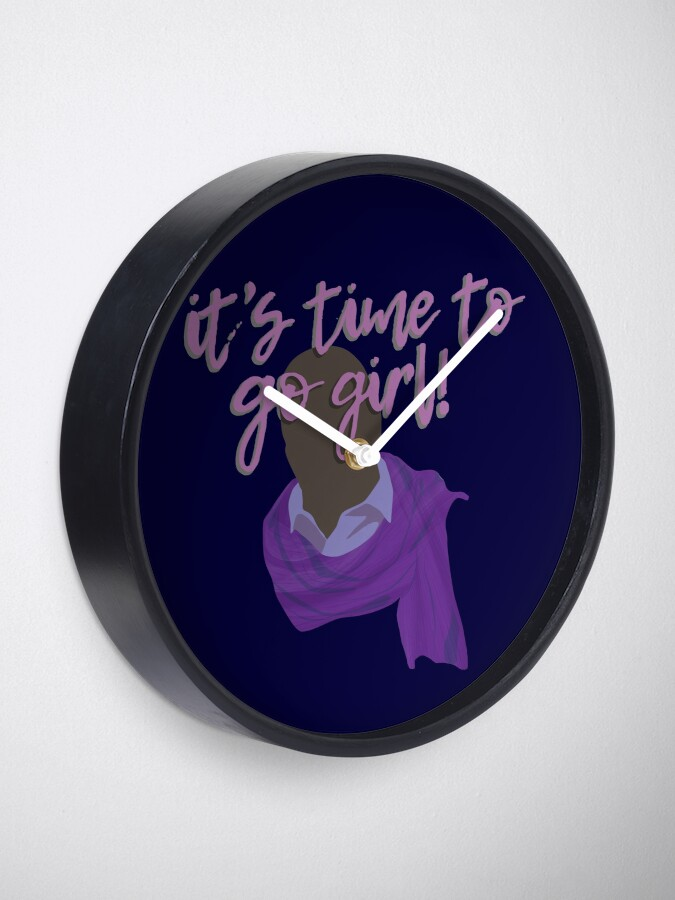 Alternate view of It's time to go girl! Clock