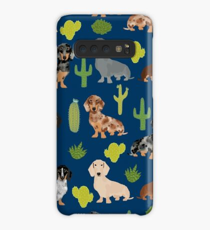 Dachshund doxie dachsie cactus desert southwest vacation dog breed gifts Case/Skin for Samsung Galaxy