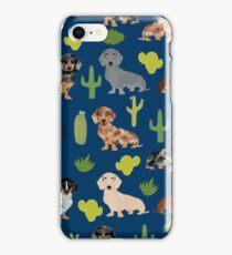 Dachshund doxie dachsie cactus desert southwest vacation dog breed gifts iPhone Case/Skin
