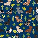 Dachshund doxie dachsie cactus desert southwest vacation dog breed gifts by PetFriendly