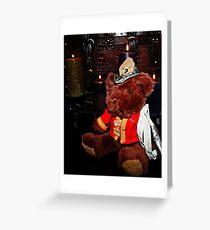 Teddy The Fireman Greeting Card