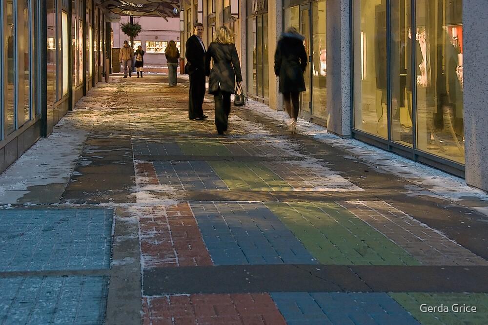 RGB Uptown Alleyway in Winter by Gerda Grice