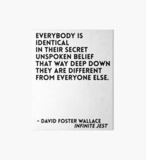 David Foster Wallace Quote Art Board