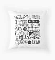 where you lead {gilmore girls} Throw Pillow