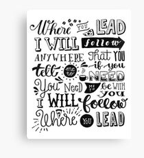 where you lead {gilmore girls} Canvas Print