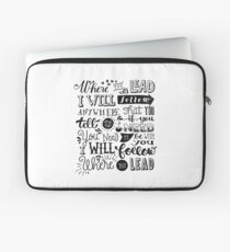 where you lead {gilmore girls} Laptop Sleeve