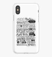 in the rain and the mud and the rain iPhone Case/Skin
