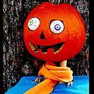 Crazy eyed pumpkin head by Beth Brightman