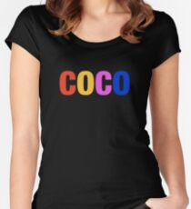 Coco - Coco Logo Women's Fitted Scoop T-Shirt