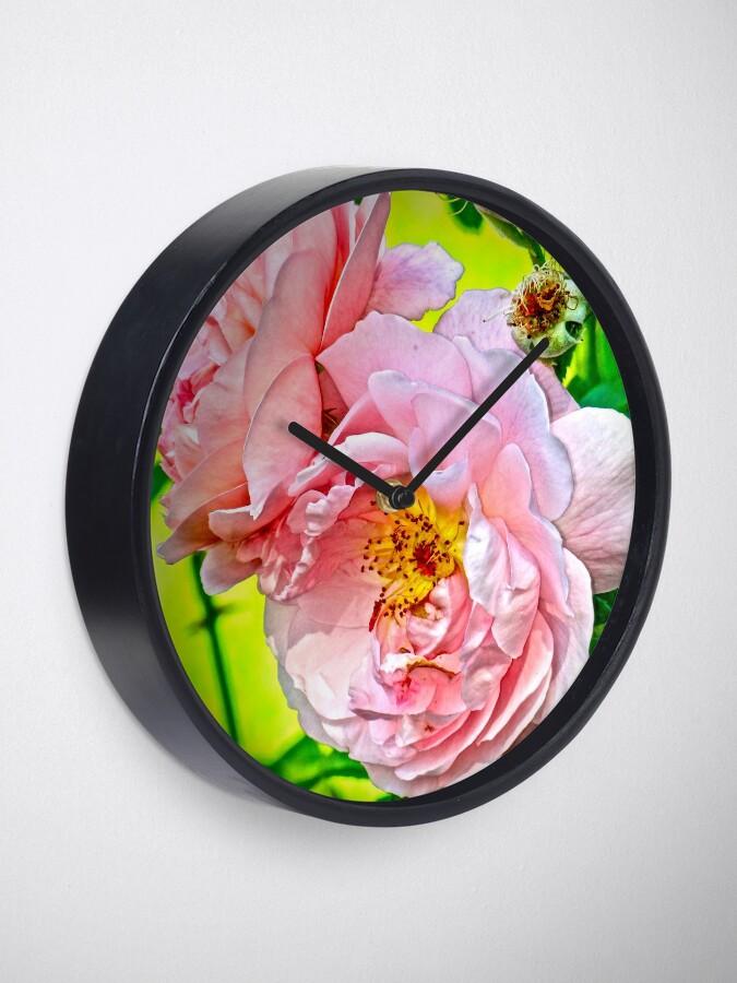 Alternate view of Pretty in pink Clock