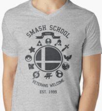 Smash School - Smash Veteran Men's V-Neck T-Shirt