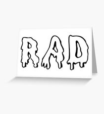 Black slang street greeting cards redbubble rad greeting card m4hsunfo