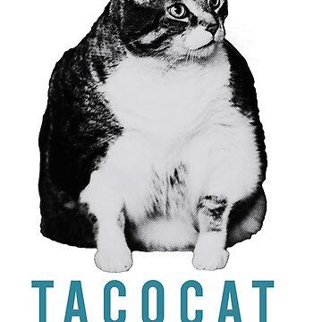 Fat Cat - Taco Cat - Blue Cat by fatcathercules