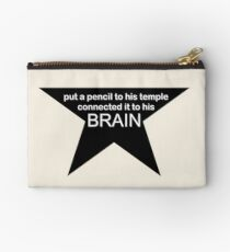 Put a Pencil to his Temple Zipper Pouch