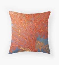 Red Reef Coral Throw Pillow