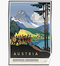 Vintage Travel Poster, Austria Poster