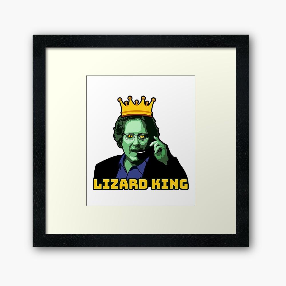 Robert California is The Lizard King (The Office) Framed Art Print