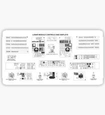 NASA - Lunar Module Controls and Displays Schematic Sticker