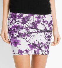 Purple Flowers in Bloom Mini Skirt