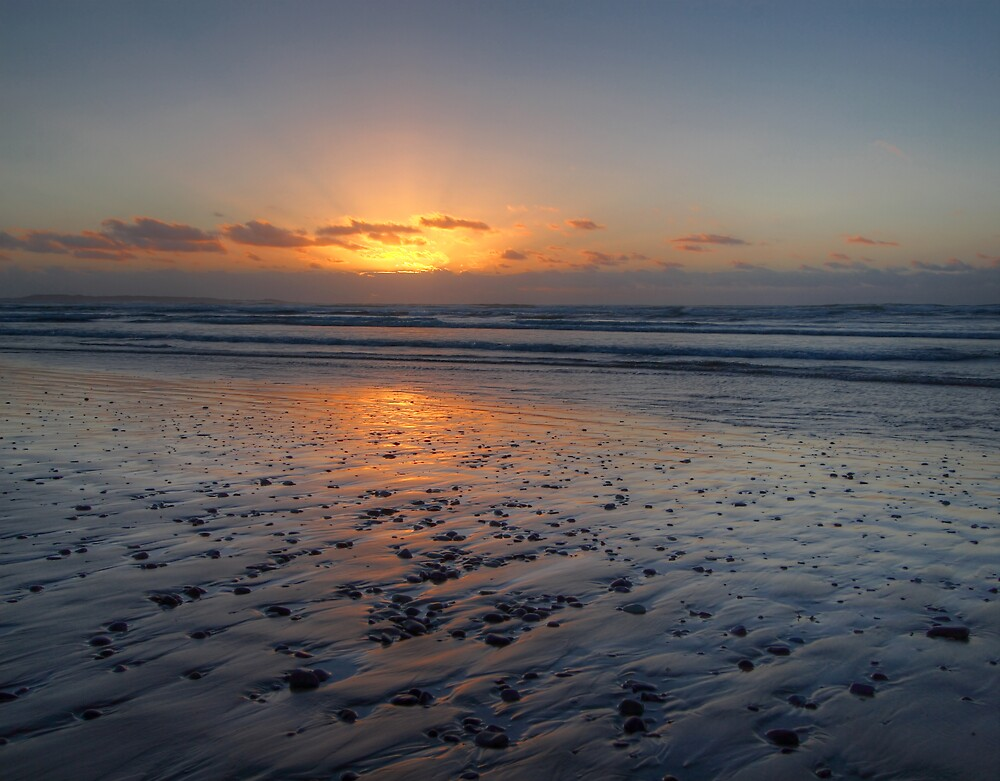Sunset - Ocean Beach, Tasmania by Darren Post