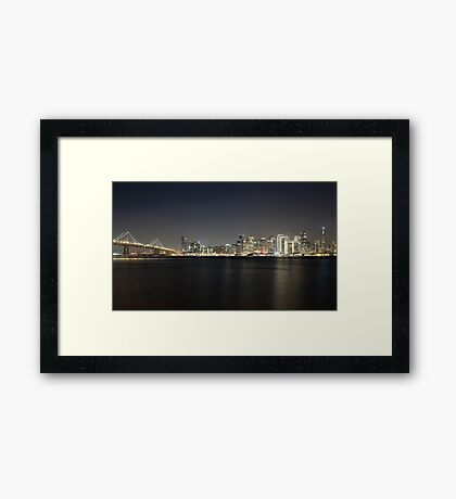 San Francisco Holiday Skyline Framed Print